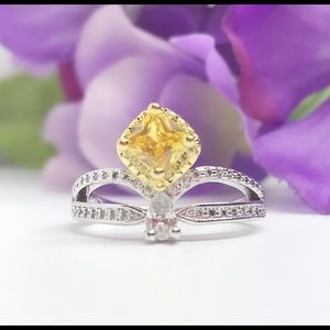 Jewelry - Canary Yellow Cubic Zirconia, Ring